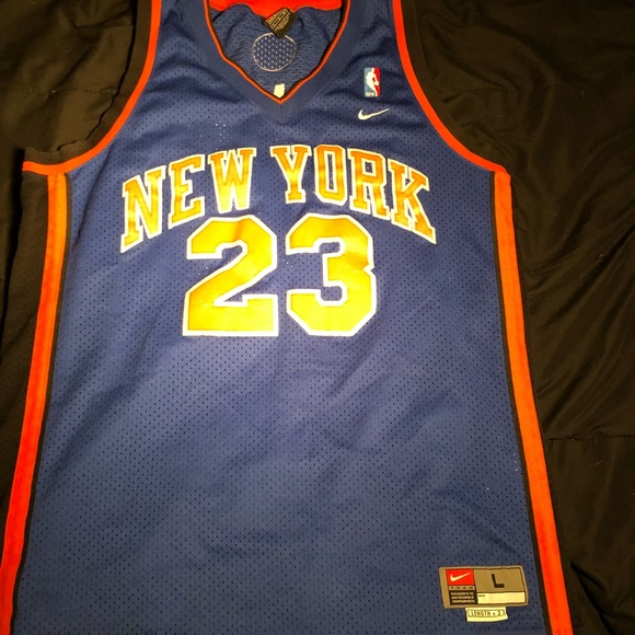 watch 3c774 fe2a1 Nike Marcus Camby New York Knicks throwback